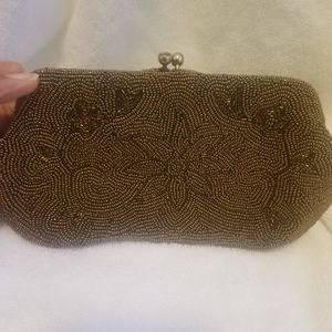 Vintage Richere Gold Beaded Clutch